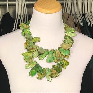 Jewelry - Green Stone Statement Necklace
